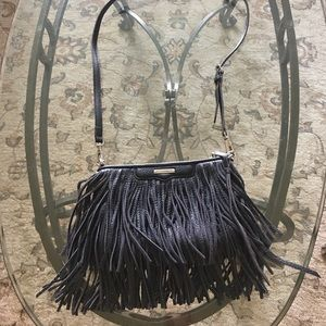 Rebecca Minkoff leather fringe crossbody bag